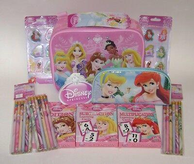 Cheap Disney Princess (LOT~NWT DISNEY PRINCESS INSULATED LUNCH BAG BOX + FLASH CARDS + SCHOOL)