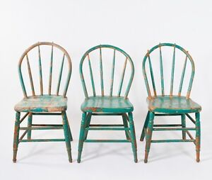 Wanted! Antique Wood Painted Chairs & Vintage Metal Chairs Stool