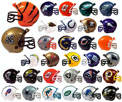 New NFL Football Mini Helmet Pencil Toppers GET ALL 32 Complete Set Party Favors (Mini Football Helmets Party Favors)