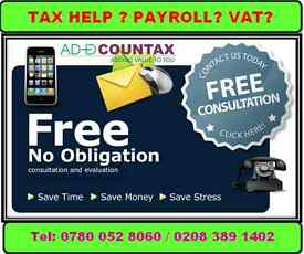 Accounts Tax return for £70 , CIS Refund, Bookkeeping, MTD VAT , Payroll, Company Formation