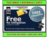 Accounts Tax return for £70 , Bookkeeping, VAT , CIS Return, Payroll, Company Formation