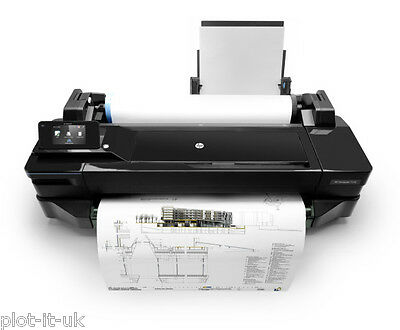 HP Designjet T120 A1 Plotter CQ891A Wide Format Printer Inc VAT & FREE Paper NEW