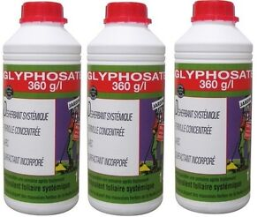 3 desherbant mauvaises herbes glyphosate 360 g l 1l jusqu. Black Bedroom Furniture Sets. Home Design Ideas
