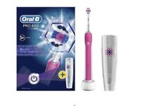 Oral B Pro 680 3D White Rechargeable Electric Toothbrush & Case - Brand new in box