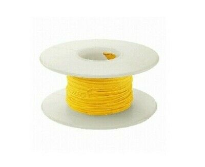26 Awg Kynar Wire Wrap Ul1422 Solid Wiremod Type 100 Foot Spools Yellow New