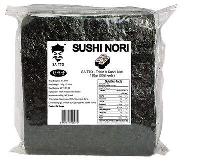Sushi Nori 50sheets 110g(3.88oz) Seaweed Dried Laver Korean Healthy Food