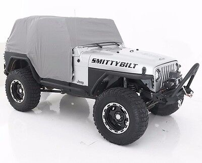Smittybilt Custom Fit Gray Cab Cover w/ Door Flaps 1992-2006 Jeep Wrangler YJ TJ
