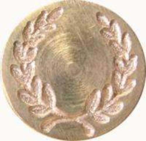 "Ivy Wreath Wax Seal Stamp 3/4"" dia. metal seal & handle (Irregular)"