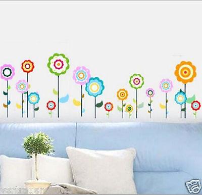 Wandtattoo Wandaufkleber Wandsticker Blumen Kinderzimmer Wohnzimmer Schlafzimmer