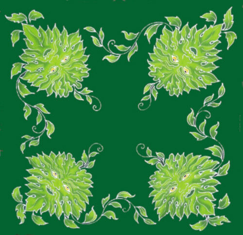 """Green Man Spirit of Nature Caftan Top 36"""" Square"""