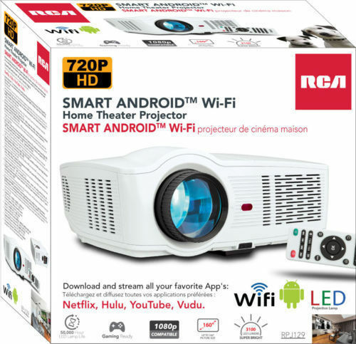 RCA RPJ129 Smart Wi-Fi LED Home Theater Projector 720P HD ™