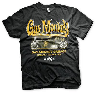 Kleidung Rod (Gas Monkey Garage Green Hot Rod Custom GMG 2004 Fast N Loud Männer Men T-Shirt)