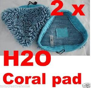 2X Blue Coral Washable Pads MicroFiber Floor Steam Pad Strin Homebush West Strathfield Area Preview