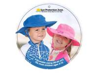 Sun protection zone hats blue/pink