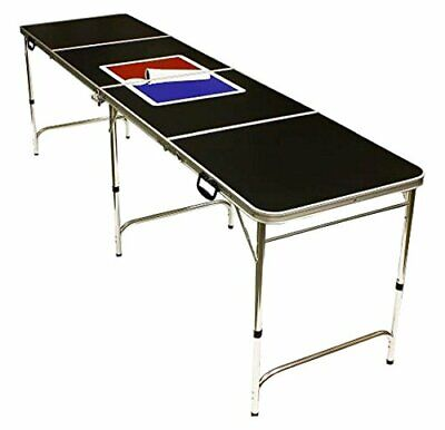 Red Cup Pong Portable Beer Pong Beirut Game Table - 8 Feet Long with Custom Bott