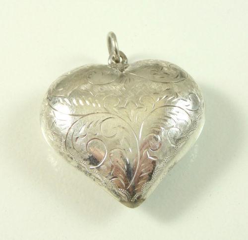 Large Sterling Silver Heart Pendant Ebay