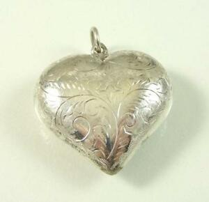 Sterling silver heart pendant ebay large sterling silver heart pendant aloadofball Image collections