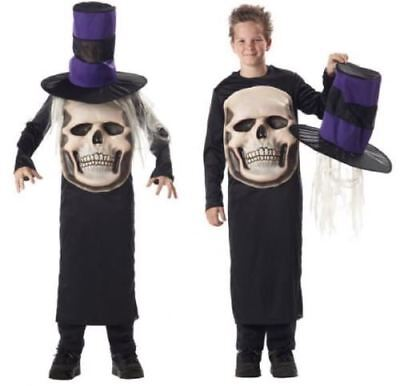 ter Halloween Horror Skelett Kostüm Kleid Outfit (Mad Hatter Kinder)