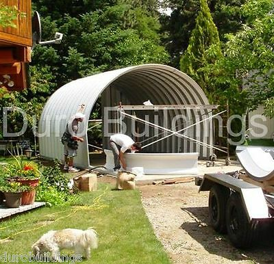 Durospan Steel 20x30x12 Metal Building Shop Farm Storage Shed Open Ends Direct