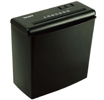 TEXET A4 PAPER ELECTRIC SHREDDER 6SHEE STRIP CUT SHREDDING CARD DOCUMENT 10L BIN