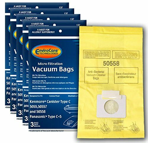 Kenmore Canister Type C Vacuum Bags  Fits 5055, 50557, 50558
