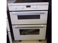INDESIT FIMU23WH Electric Built-under Double Oven Main Oven Fan 51 Litres White