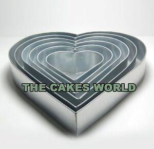 6 TIER HEART WEDDING CAKE BAKING TINS CAKE PANS 6 8 10 12 14 16