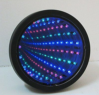Sensory Infinity Mirror Light Autism Tunnel Wall Relaxing Calm Desk Lamp LED