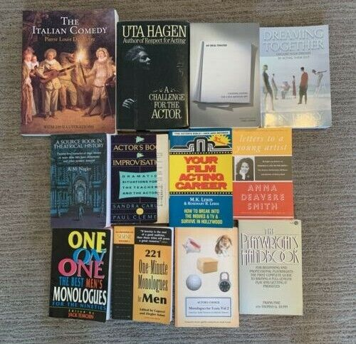Lot of 12 Theatre/Acting Books ~ Playwriting, Film, Improv, History, Monologues