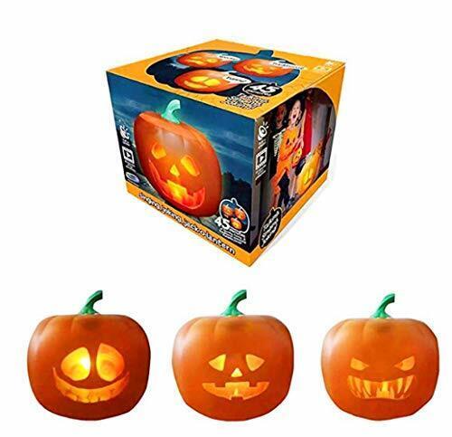 LED Pumpkin Projection Lamp, Halloween Talking Animated Pumpkin Halloween Party