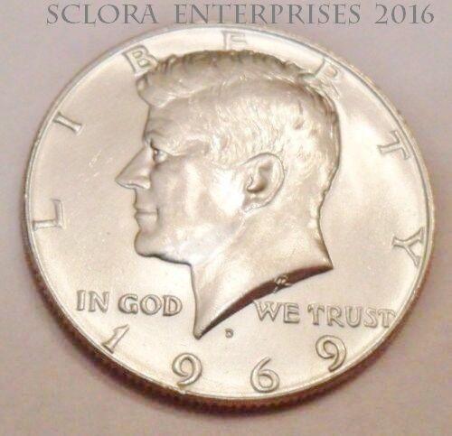 1969 D Kennedy Half Dollar *40% SILVER*   **FREE SHIPPING
