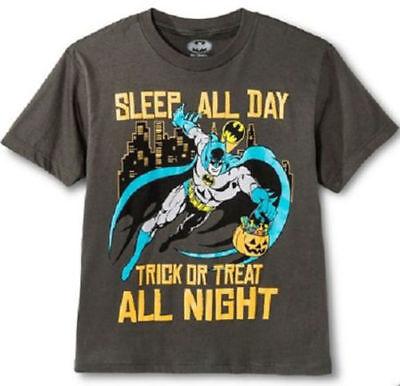 Batman Sleep All Day Trick or Treat All Night T Shirt Boys S M L XL Halloween - Trick Or Treat Halloween Day