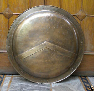 Medieval 300  Spartan Shield 18 Roman Movie Shield Brass Finish Free PP