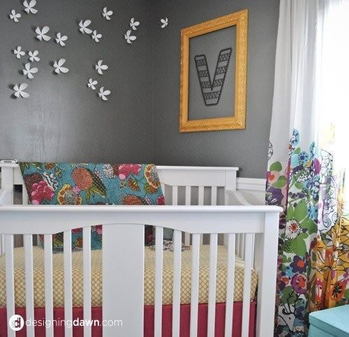 Framing a large initial makes a statement and personalizes a kid's space. (Image: Designing Dawn)