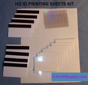 EZ PVC Inkjet ID 8 Card Printer Kit Real Holograms - No fake - Magnetic Stripe