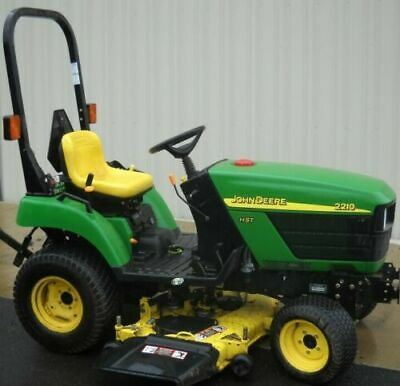 John Deere 2210 Compact Utility Tractor Technical Manual Tm2074 Genuine Pdf
