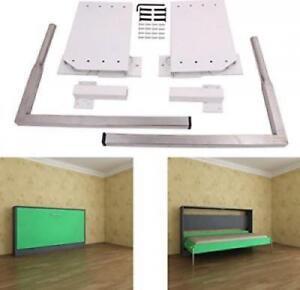 DIY Murphy Wall Bed Springs Mechanism Hardware Kit Queen Size Horizontal Side