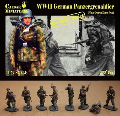 Caesar miniatures 1/72 WWII Alemán Panzergrenaidier (Invierno Gabán Oriental Fr