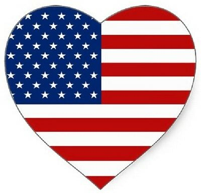 30 Custom Usa Flag Heart Personalized Address Labels