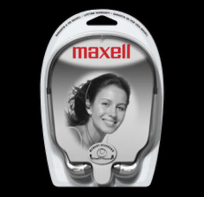 Maxell Stereo Head - Maxell HB-202 Stereo Head Buds [New Headphone] Silver, Earbuds, In-Ear