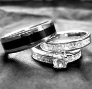 Men and Women Wedding Ring Set