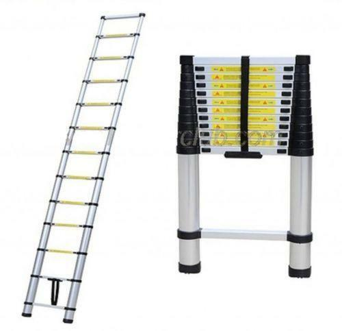 Aluminum Telescopic Ladder : Extension telescoping aluminum ladder ebay