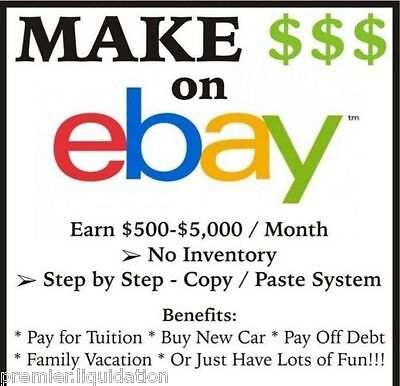 * Make Money w/ your Own eBay Amazon Copy-&-Paste Dropshipping Online Business *