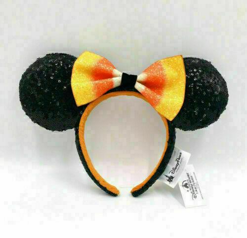 Disney Parks Bow Halloween Candy Corn Sequins  Rare Minnie Ears Headband