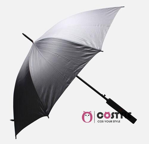 US Stock Anime Naruto Cosplay Sword Umbrella COS Ball Party 100cm Black Rain Sun