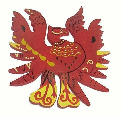 Feng Shui Wooden Red Phoenix Bird Wall Hanging for Fame,Reputation & Recognition