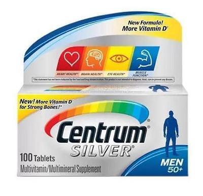 Centrum Silver Men 50+ Multivitamin, 100 tablets + 20 free EXP NOV 2016