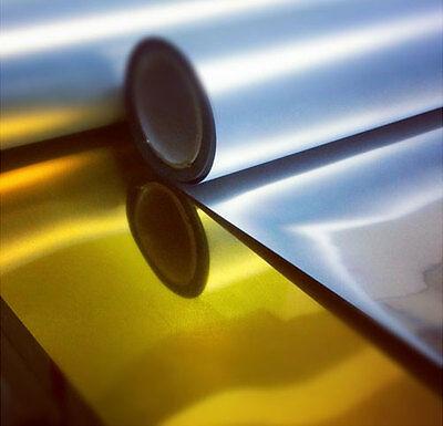 A4 1m Roll Of Chrome Textile Foil T-shirt Vinyl Heat Press Vinyl Transfer Paper