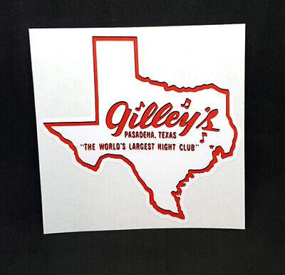 Gilley's Nightclub Sticker, Pasadena Texas, Gilleys Vintage Style Decal