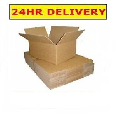 GREAT QUALITY 25 PACK 305x229x305mm(12x9x12in)CARDBOARD BOXES*NEXT DAY DELIVERY*